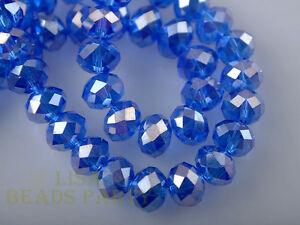 500pcs-3x4mm-Faceted-Rondelle-Crystal-Glass-Loose-Spacer-Beads-Blue-AB-Crafts