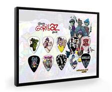Gorillaz Clásico Enmarcado Pantalla de guitarra pick
