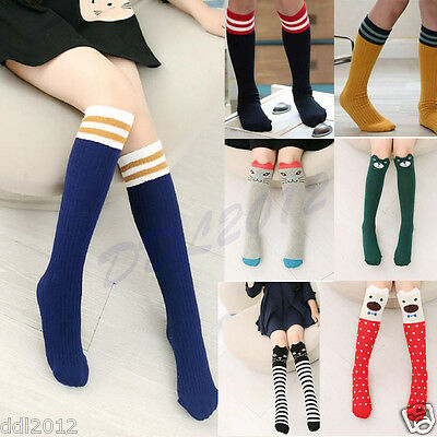 Cute Lovely Kids Girls Boy Toddlers Pattern Knee High Cotton Socks Age 0-6 Years