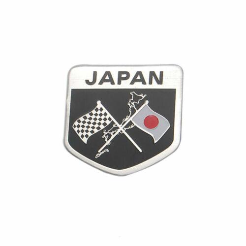 Car Japan JPN JAP JP Flag Emblem Fender Boby Rear Badge Motorsport Sticker Decal
