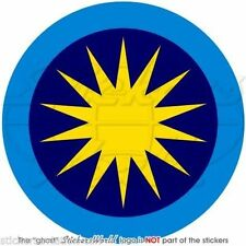 "MALAYSIA Royal Malaysian AirForce TUDM Aircraft Roundel Decal Sticker, 4""(100mm)"