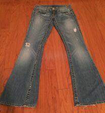 True Religion Bobby Distressed Medium Wash Women's Jeans Size 28