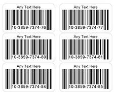 Barcode Number Stickers 1000 4000 Or 20000 Unique Personalised Sticky Labels
