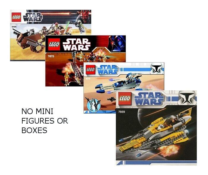 LEGO 9496, 7670, 8015, & 7669  - Star Wars Sets - NO MINI FIGS / BOX