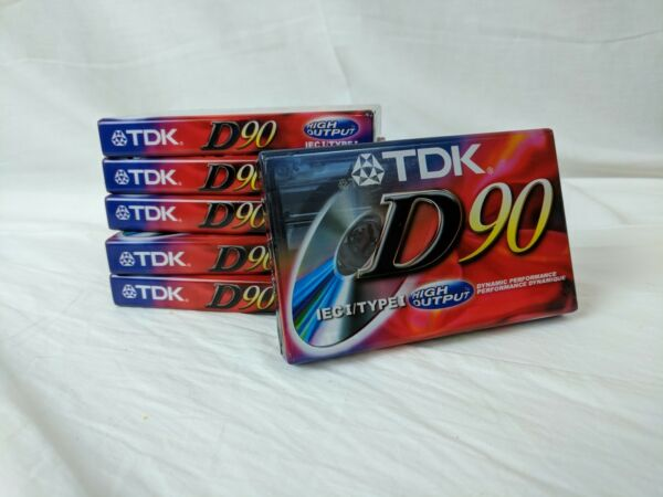 Tdk D90 High Output Cassette Tapes New Lot Of 6 Unopened New Blank Audio Tapes