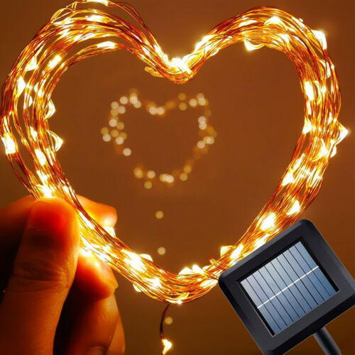 20-400 LED Silver//Copper Wire Fairy String Lights Xmas Party Battery//Solar//Plug