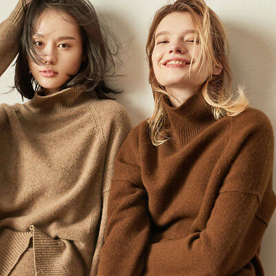 Women/'s Winter Warm Tops Sweater Cashmere High-Necked Knitwear Pullovers