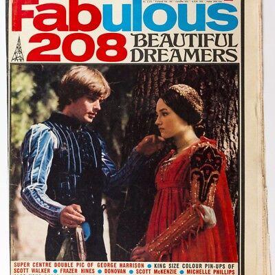 LEONARD WHITING Olivia Hussey SCOTT WALKER George Harrison FABULOUS 208 magazine