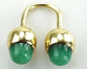 Einzigartiger-585er-Gold-Ring-Jade-Edelstein-14K-Designer-15-10g-Gr-48