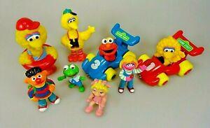 Sesamstrasse-Muppets-Set-von-8-Figuren-Sammelfiguren-Bibo-Ernie-Elmo-Kermit