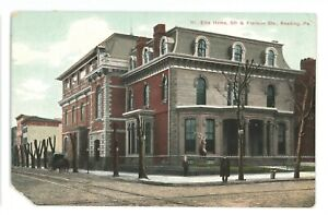 Elks-Home-Franklin-5th-Sts-READING-PA-Berks-County-Pennsylvania-Postcard
