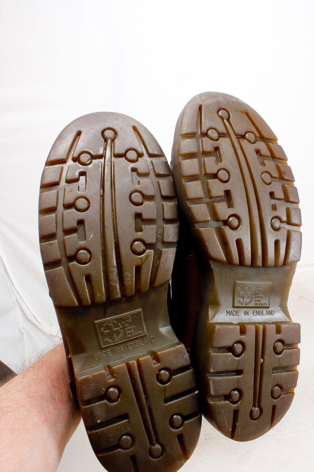 Doc Martens Uomo 9351 Brown Pelle Ridgeback Oxford Oxford Oxford Size 10 Vintage Made In UK 9b7c68