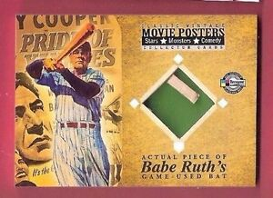 BABE-RUTH-GAME-USED-BAT-CARD-2009-MOVIE-POSTERS-PRIDE-OF-THE-YANKEES-NEW-YORK