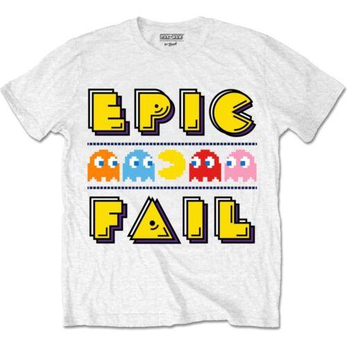 Pac-Man Epic Fail Classic Official Pacman Namco Arcade Game White Mens T-shirt