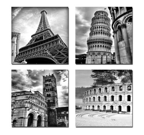 Canvas Print Wall Art Painting Picture Home Decor World Attractions Gray City