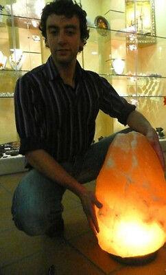 New Natural Himalayan Salt Lamp Rare Beautiful Organic Pink Orange Crystal Light