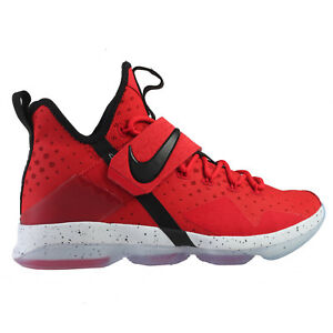 adbd8331eaf Nike Lebron 14 XIV Mens 852405-600 University Red Black Basketball ...