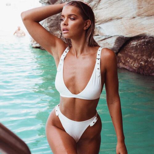 Damen Brazilian Bikini Set Push Up BH Bandage Badeanzug Bademode Schwimmanzug 38
