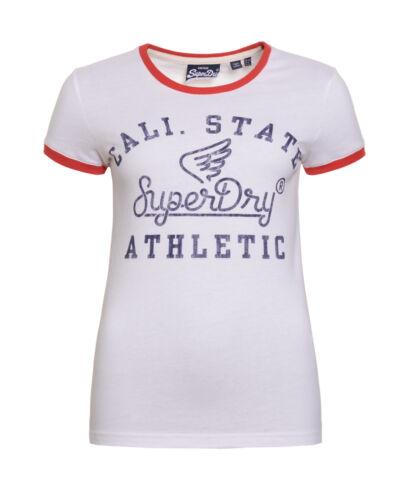 Nouveau Débardeur Superdry State Athletic Ringer T-Shirt Optique