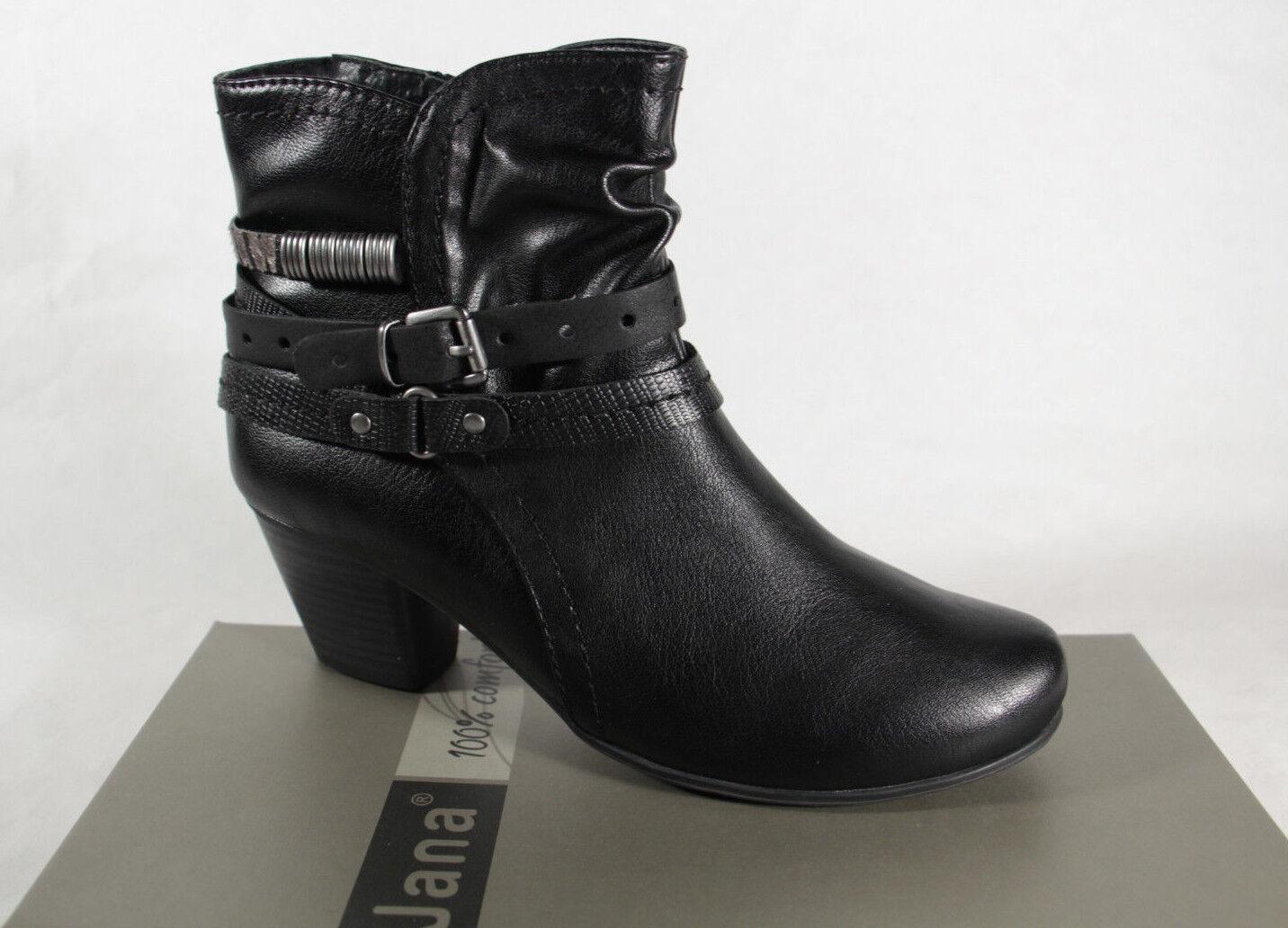 Jana 25360 Botines, botas, botas Negro 25360 Nuevo