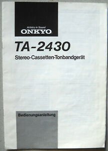 ONKYO-TA-2430-Bedienungsanleitung