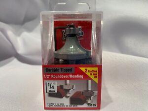 "Vermont American 23132 1//4/"" Roundover//Beading-1//4/"" Shank-Carbide Router Bit"