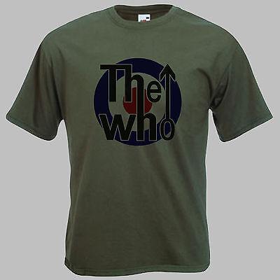 Mens 'THE WHO T-SHIRT'  retro MOD target tshirt for men