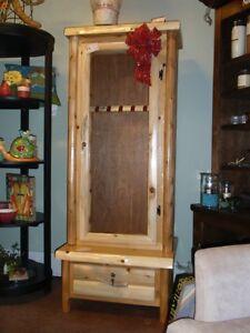 Image Is Loading GUN CABINET Custom Made Rustic Cedar Gun Cabinet