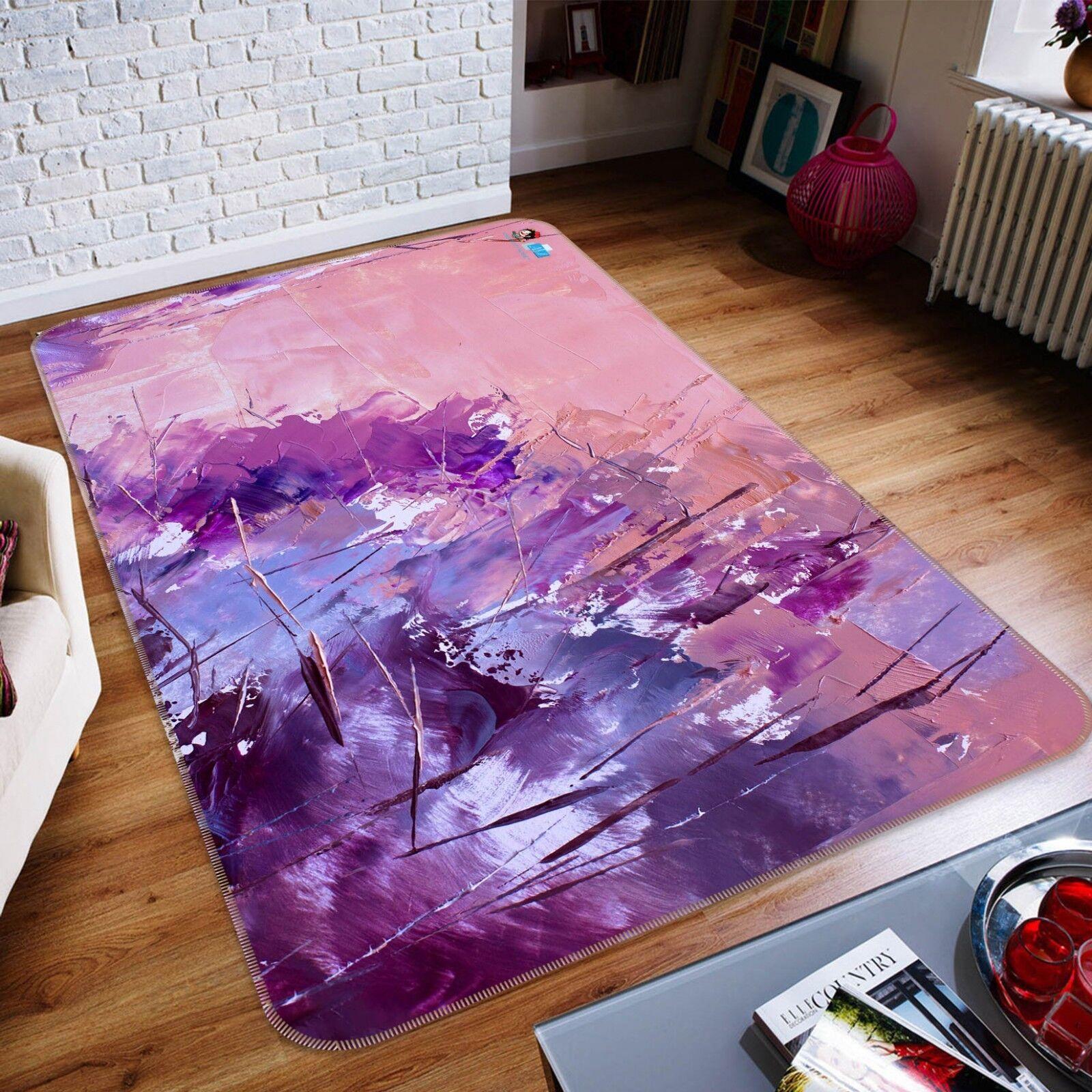 3D lila Oil Paint 78 Non Slip Slip Slip Rug Mat Room Mat Quality Elegant Photo Carpet UK e1bdfa