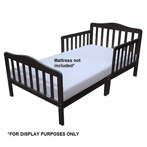 Toddler Bed With Guard Safety Rail Wooden Kids Bed Cot