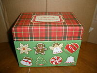 Hallmark Christmas filled With Holiday Goodies Cookies Recipe Box With Cards