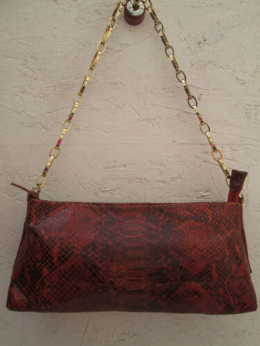 Vintage Main Bag Tbeg Cuir Biasia Authentique Francesco Reptile Sac À 87xpB4