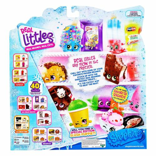 8 Real Mini Packs and 8 Real Shopkins! Shopkins Real Littles Lil/' Shopper Pack