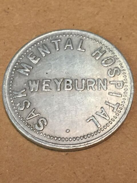 Token Mental Hospital Weyburn Saskatchewan Canada Loaf Of Bread Vintage Coin T01