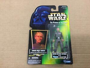 Star Wars 1996 Grand Moff Tarkin on Green POTF Card