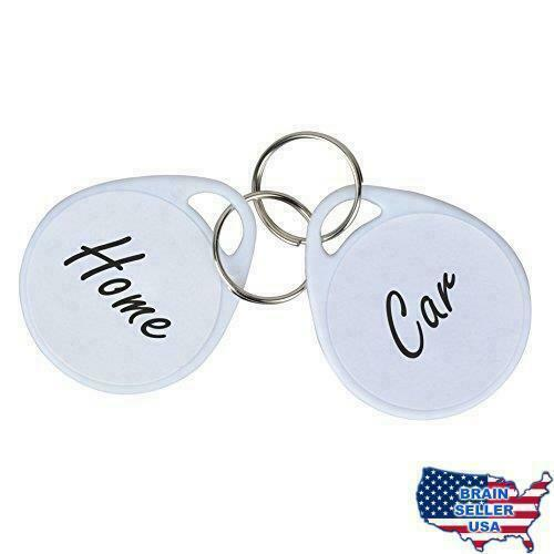 Uniclife Key Tags 50 Pack Plastic With Split Ring Label White For Sale Online Ebay