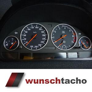 Tachoscheibe-fuer-BMW-E38-E39-E53-X5-in-M5-Style-300-Kmh-Benziner-Top