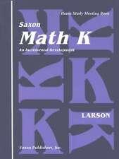 Saxon Math Kindergarten Home Study Meeting Book Grade K Homeschool Student