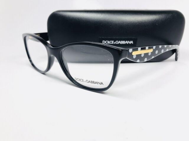67d6a65a6886 Dolce & Gabbana Polka Dots Black Red 53 Eyeglasses DG 3199 2871 for sale  online | eBay