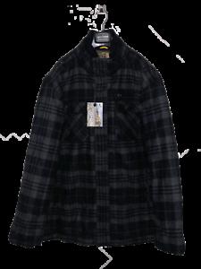 BIG SIZES 2XL 3XL 4XL 5XL Check Winter Coat Jacket Black and Grey Christmas