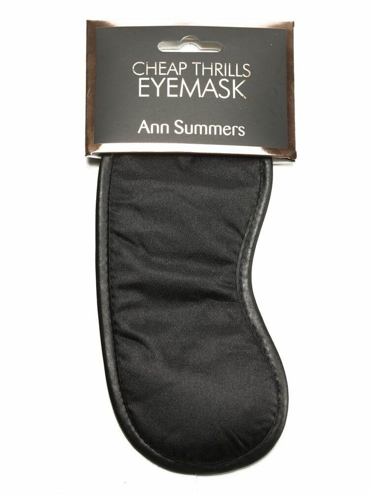Bien Ann Summers Sexy Noir Basic Cheap Thrills Masque Bondage Chambre à Coucher Accessoire Vente Chaude 50-70% De RéDuction