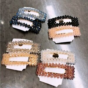 Women-Charm-Slide-Snap-Crystal-Hair-Clips-Barrette-Grips-Hairpin-Pin-Accessories
