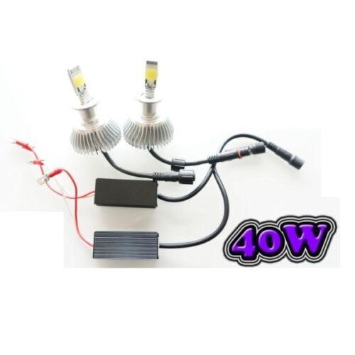 6000K PEUGEOT 308 2 AMPOULE LED H7 40W ÉCLAIRAGE PUISSANT
