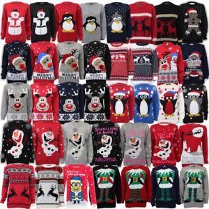 Mujer-Hombre-Navidad-Novedad-jersey-vintage-70-039-s-Sueter-Retro-NUEVO