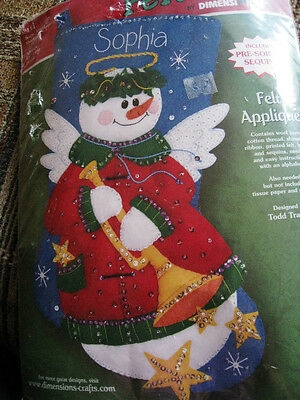 Dimensions Christmas Felt Works Applique Holiday Stocking ...
