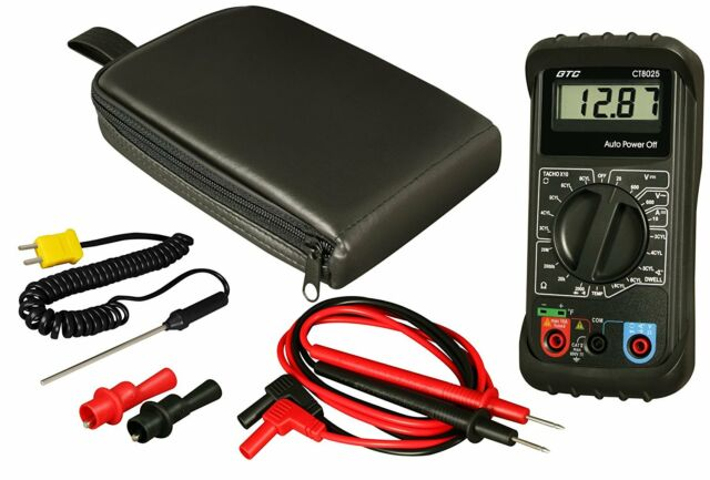 Automotive Digital Multimeter : Gtc ct automotive digital multimeter with carry case ebay