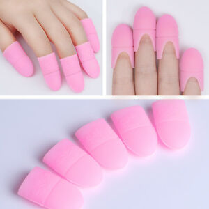 Image Is Loading 5pcs Set UV Gel Polish Remover Wraps Silicone