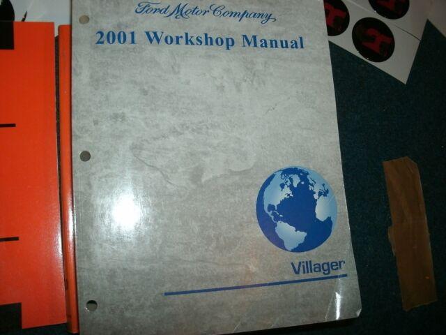 2001 Mercury Villager Factory Complete Shop Service Manual Nice Original Complet