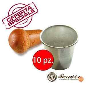 OFFERTA 10 STAMPI BABA' MIGNON 3,5X3,8 cm VESPA babà ALLUMINIO ANTIADERENTE 1078