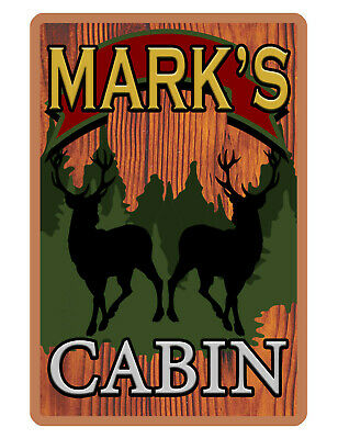 Personalized Cabin Sign Printed with YOUR NAME Full Color CUSTOM ALUMINUM SIGN45